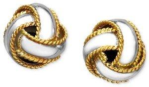 Giani Bernini 18K Gold over Sterling Silver Earrings, Love Knot Stud Earrings