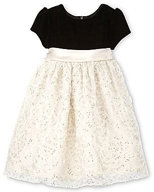 JCPenney American Princess® Black-and-Champagne Dressy Dress - Girls 2t-4t