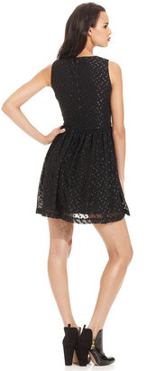 French Connection Dress, Sleeveless High-Neck Dotted