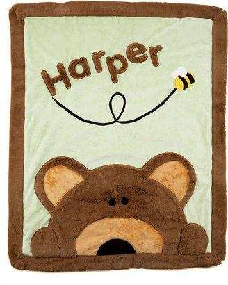 Boogie Baby Peek-a-Boo Bear Blanket, Personalized