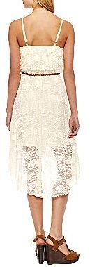 JCPenney Belted Lace High-Low Dress