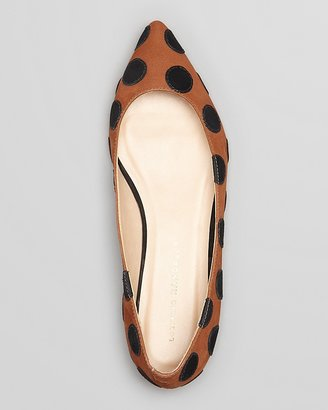 Loeffler Randall Pointed Toe Flats - Quinnie Polka Dot