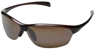 Maui Jim Hot Sands (Gloss Black/Neutral Grey) Plastic Frame Sport Sunglasses