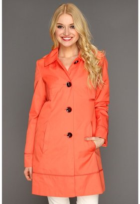 Ivanka Trump A-Line Trench (Coral) - Apparel
