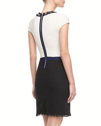 Rebecca Taylor Two-Tone Tweed Dress