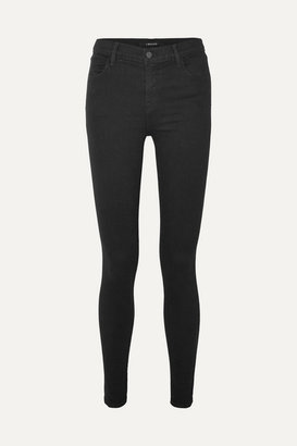 J Brand - Photo Ready Maria High-rise Skinny Jeans - Black $190 thestylecure.com