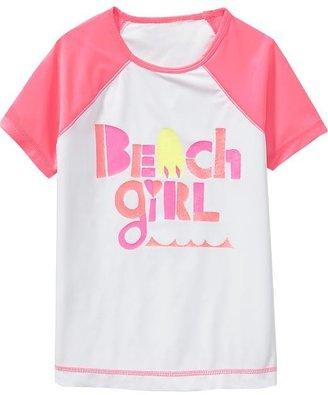 Old Navy Girls Beach-Graphic Rashguards