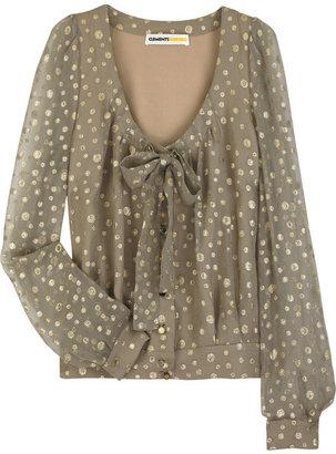 Clements Ribeiro Spotted silk-chiffon blouse