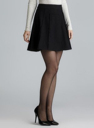Marc by Marc Jacobs Exposed Seams A-Line Wool Skirt