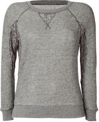 Marc by Marc Jacobs Athletic Heather Grey Win Loopback Sweatshirt