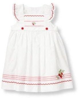 Janie and Jack Strawberry Apron Dress