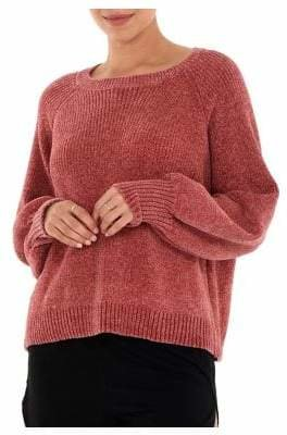Paper Label Quietude Rosa Chenille Pullover Sweater