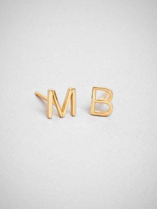 BaubleBar Alphabet Stud