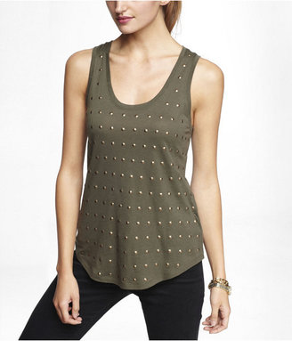 Express Studded Front Shirttail Tank