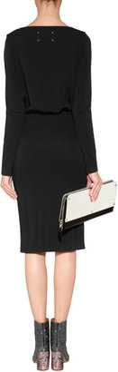 Maison Margiela Leather Oversized Clutch with Mirror Panels
