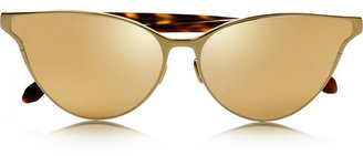 Linda Farrow Cat eye gold-plated and acetate sunglasses