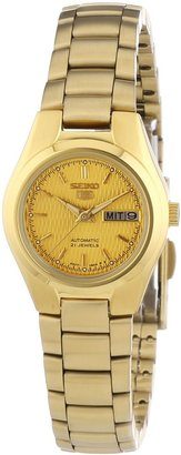 Seiko Women's SYMC18 5 Automatic Gold Dial Gold-Tone Stainless Steel Watch