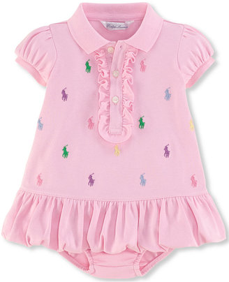 Ralph Lauren Baby Girls' Embroidered Polo Dress $35 thestylecure.com