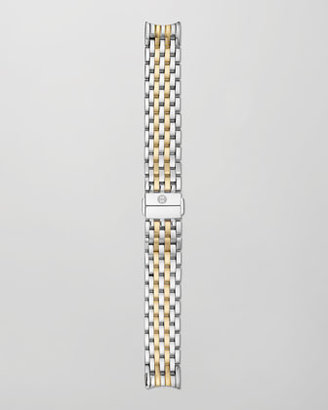 Michele 18mm Fluette Two-Tone Bracelet Strap