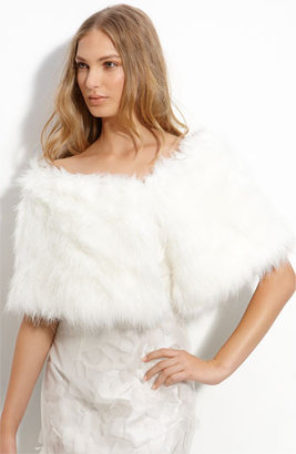 Cara Accessories Faux Fur Shrug