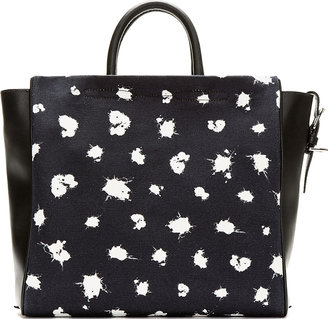 3.1 Phillip Lim Black & Midnight Navy Ryder Square Tote