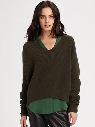 Vince Double V Ribbed Sweater