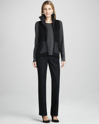 Eileen Fisher Organic Straight-Leg Jeans, Petite