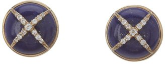 Elizabeth and James Northern Star Cabochon Earrins with White Topaz Earrin