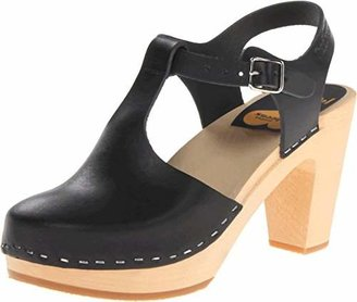 Swedish Hasbeens Women's T-Strap Sky High Heeled Sandal