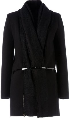 Sharon Wauchob knitted detail belted coat