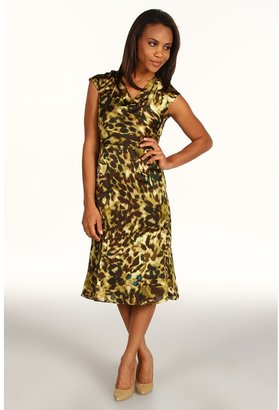 Anne Klein Camo Print Dress (Bark Multi) - Apparel