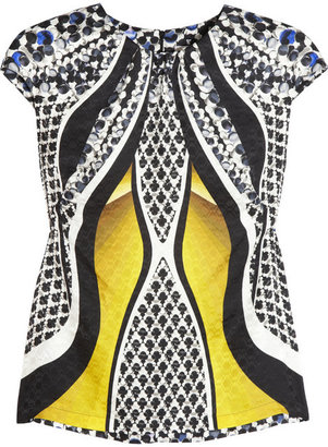 Peter Pilotto Leena printed silk-satin top