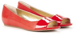Sole Society Liliana peep toe flat