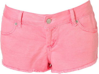 Topshop MOTO Neon Pink Cut Off Hotpants