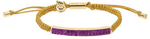 Michael Kors Holiday Macrame Cord Bracelet, Berry/Golden