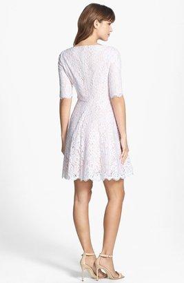 Monique Lhuillier Bridesmaids Lace Fit & Flare Dress