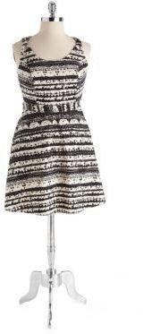 Jessica Simpson WOMENS Plus Archipelago Sleeveless Kenya Stripe Printed Dress