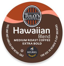 Keurig K-Cup® Tully's® Hawaiian Blend Medium Roast Coffee for Brewers - 18 Count