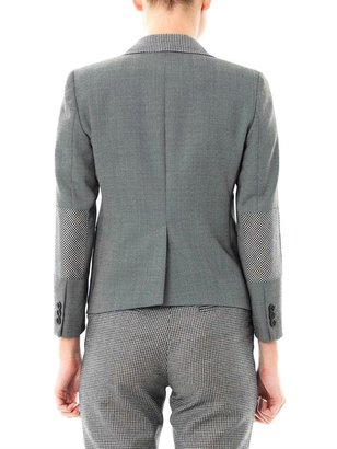 Band Of Outsiders Contrast check wool blazer