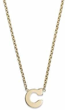 """Chicco Zoë 14K Yellow Gold Initial Necklace, 16"""""""