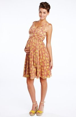 Maternal America Ruffle Wrap Maternity Dress