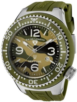 Swiss Legend Men's Neptune Green Camouflage Dial Green Silicone SL-11852C-017 Watch