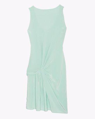 Thakoon Shirred Silk Dress: Mint