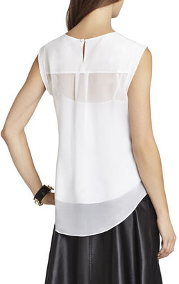 BCBGMAXAZRIA Seline Silk Sleeveless Top