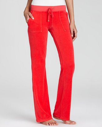 Juicy Couture Pants - Bootcut Velour Pants with Snap Pockets
