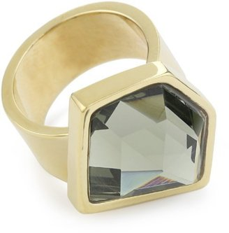 """Kenneth Cole New York """"Urban Stone"""" Smoky Topaz Stone In Gold Ring, Size 7.5"""