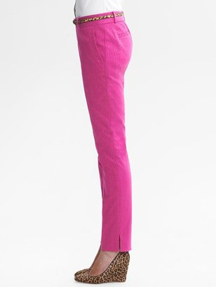 Banana Republic Camden-Fit Pink Jacquard Skinny Ankle Pant