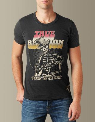 True Religion Mens Psychedelic Voyage Crewneck Tee