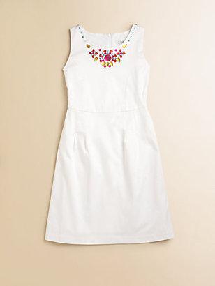 Hartstrings KC Parker by Girl's Beaded Sateen Dress