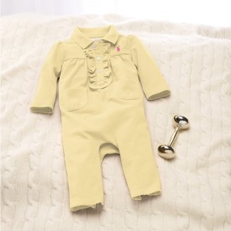 Solid Cotton Mesh Coverall